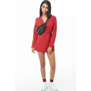 NWOT Double-Breasted Burgundy Blazer Romper